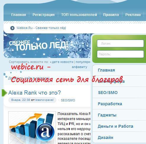 webice2 Социальные сети для блогеров